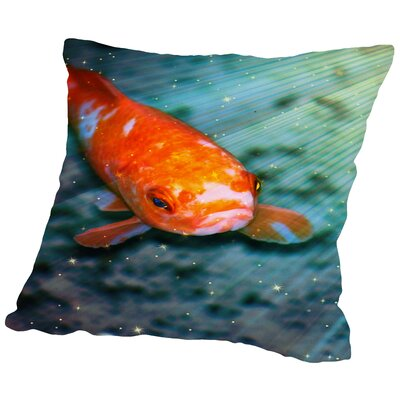 Fish Sealife With Stars Throw Pillow Size: 14 H x 14 W x 2 D