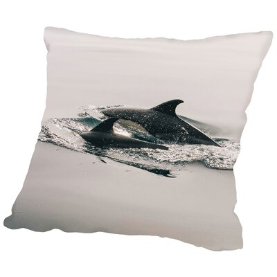 Family Dolphin Sealife Throw Pillow Size: 14 H x 14 W x 2 D
