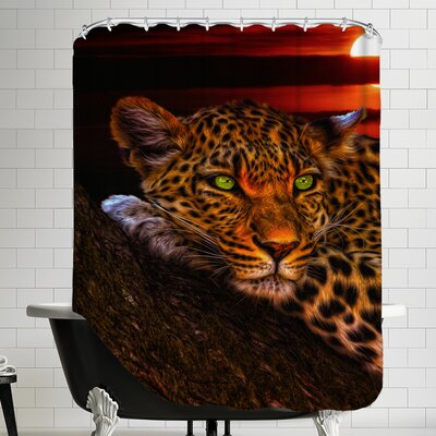 Gepard Leopard Sunset Animal Cat Shower Curtain