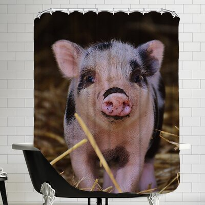 Farm Animal Pig Shower Curtain
