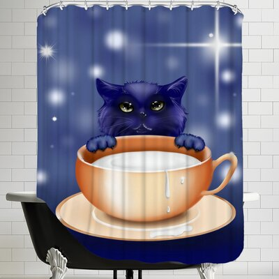 Fantasy Kitten Cat Shower Curtain
