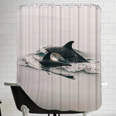 Family Dolphin Sealife Shower Curtain