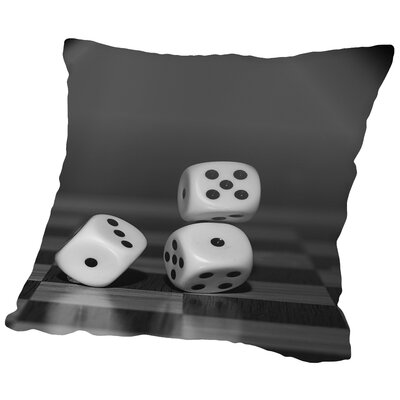 Cube Dice Hobby Game Throw Pillow Size: 18 H x 18 W x 2 D