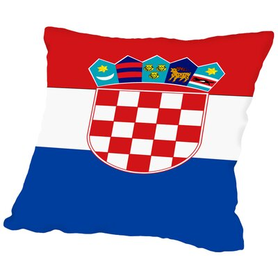 Croatia Flag Throw Pillow Size: 16 H x 16 W x 2 D