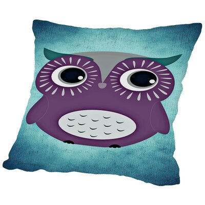 Colorful Bird Animal Trendy Throw Pillow Size: 14 H x 14 W x 2 D
