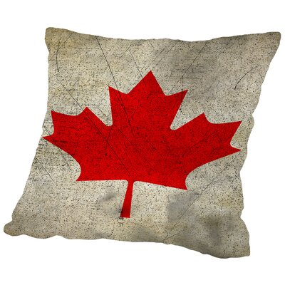 Canada Flag Throw Pillow Size: 14