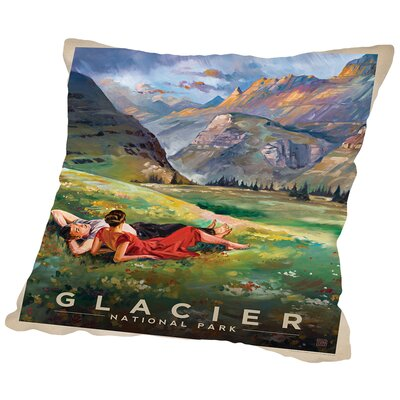 Glacier Throw Pillow Size: 18 H x 18 W x 2 D