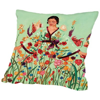 May Flowers Throw Pillow Size: 18 H x 18 W x 2 D
