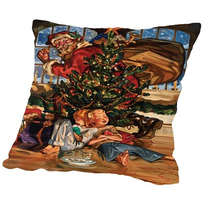 Waiting For Santa Throw Pillow Size: 16 H x 16 W x 2 D