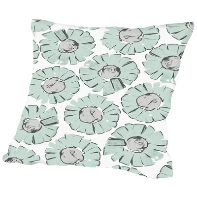 Edgy Daisy Seafoam Throw Pillow Size: 20 H x 20 W x 2 D