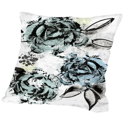 Faded Rose Throw Pillow Size: 16 H x 16 W x 2 D