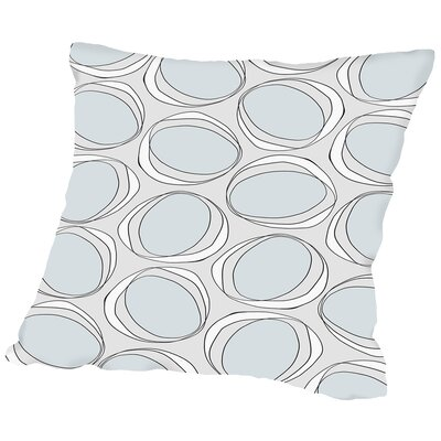 Poppy Petals Circles Throw Pillow Size: 18 H x 18 W x 2 D