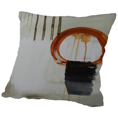 Zen Mountain Throw Pillow Size: 20 H x 20 W x 2 D