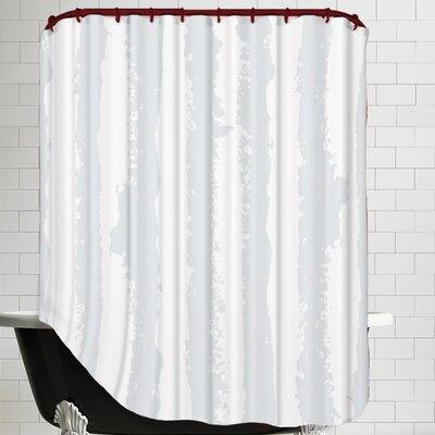 Poppy Silhouette Stripe Shower Curtain