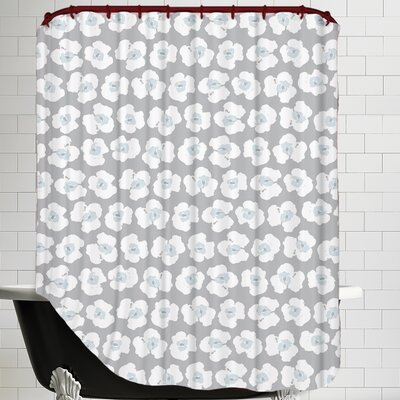 Poppy Silhouette Minis Shower Curtain
