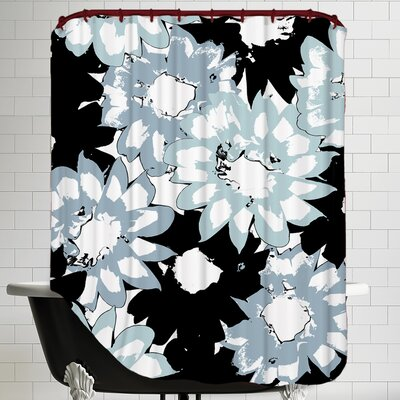 Gazania Silhouette Shower Curtain