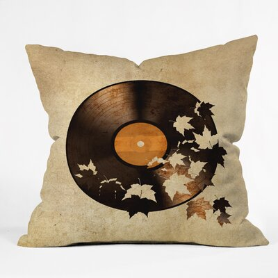 Autumn Song Throw Pillow Size: 16 H x 16 W x 4 D