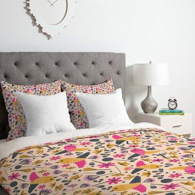 Birds and Leaves 2 Piece Duvet Covre Set