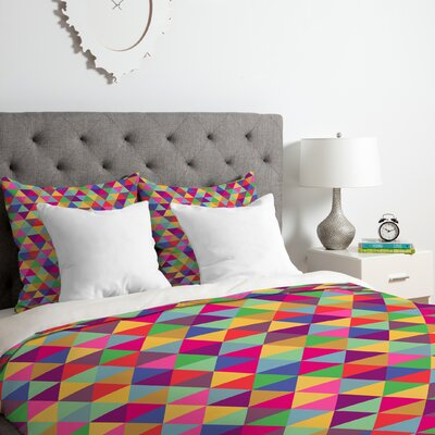 in Love With Triangles Duvet Cover Set Size: Queen