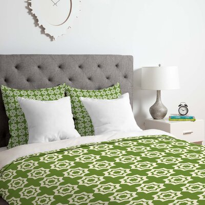 Duvet Cover Set Color: Green, Size: King