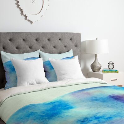 Ocean Tide Duvet Cover Set Size: King