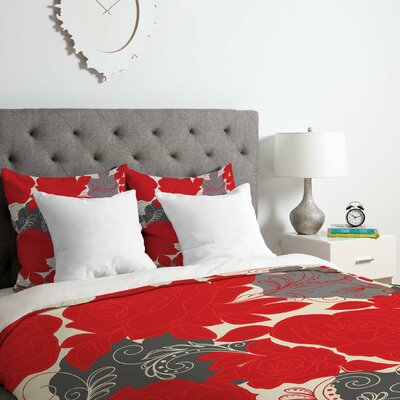 4 Duvet Cover Set Size: Queen