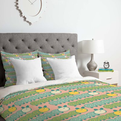 Caterpillars Duvet Cover Set Size: Queen