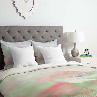 Banff Painted Christmas Duvet Cover Set Size: King