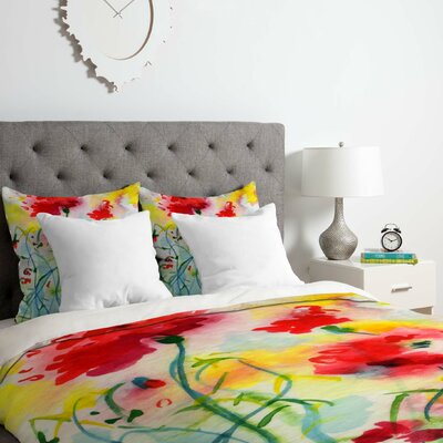 Fine Art If Poppies Could Only Speak Duvet Cover Set Size: Queen