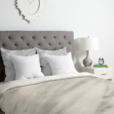 Italian Marble Carrara Duvet Cover Set Size: Queen