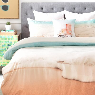 Ombre Beach Duvet Cover Set Size: Twin/Twin XL