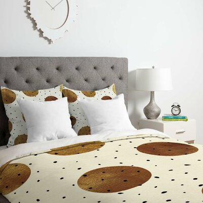 Mixed Dots Duvet Cover Set Size: Queen