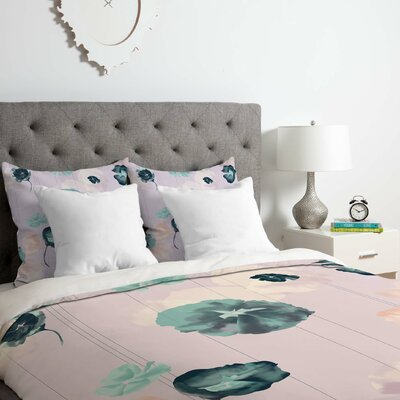 Duvet Cover Set Color: Pink, Size: Queen
