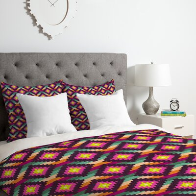 Aztec Diamonds Hammock Duvet Cover Set Size: Queen