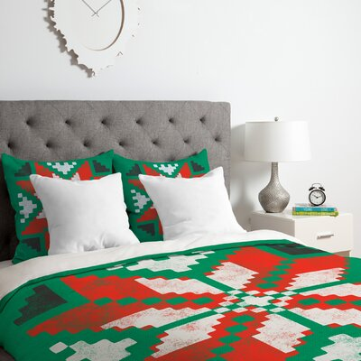 Southwest Snowflake Duvet Cover Set Size: Queen