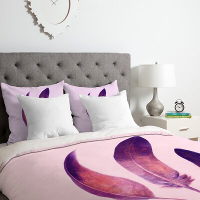 Feathers Duvet Cover Set Size: Queen
