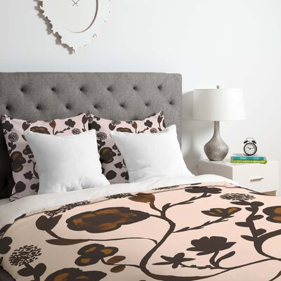 Floral II Duvet Cover Set Size: Queen