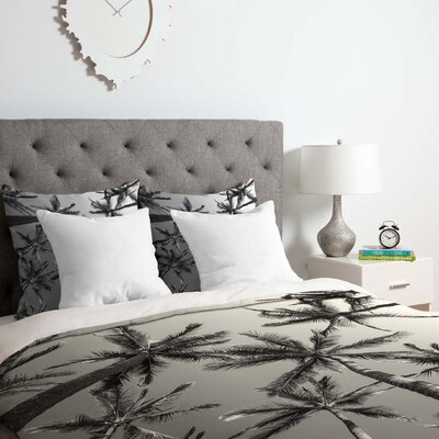 Bw Palms Duvet Cover Set Size: Queen