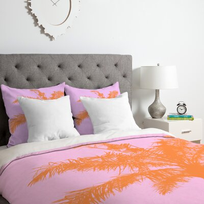 Deb Haugen Palm Duvet Cover Set Size: Queen