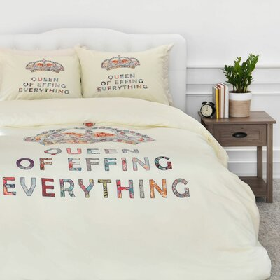 Her Daily Motivation Duvet Cover Set Size: Queen
