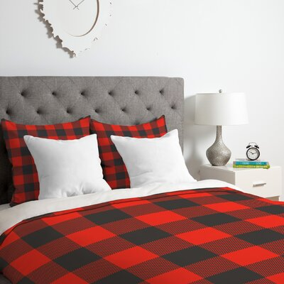Bernier Winter Cabin Duvet Cover Set Size: Queen