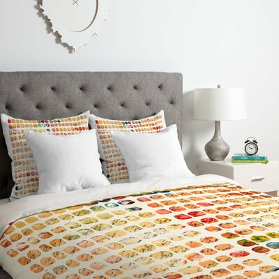 Funny Blocks Duvet Cover Set Size: King