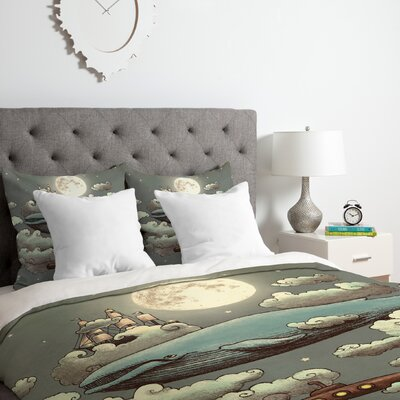 Ocean Meets Sky Duvet Cover Set Size: Queen