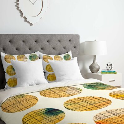 Squared Circle Duvet Cover Set Size: Twin/Twin XL