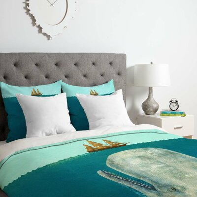 The Whale Duvet Cover Set Size: Queen