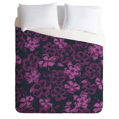 Lightweight Russian Ballet Duvet Cover Color: Pink and Black, Size: King