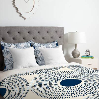 Camilla Foss Circles II Duvet Cover Set Size: Queen