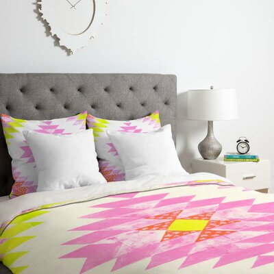Chelsea and Coral Duvet Cover Set Size: King