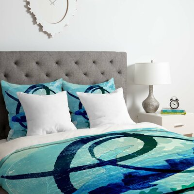Ocean Swirl Duvet Cover Set Size: King