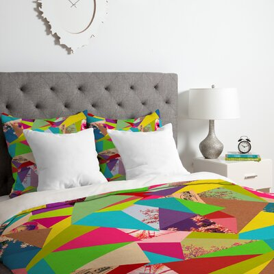 Bianca Colorful Thoughts Duvet Cover Set Size: King